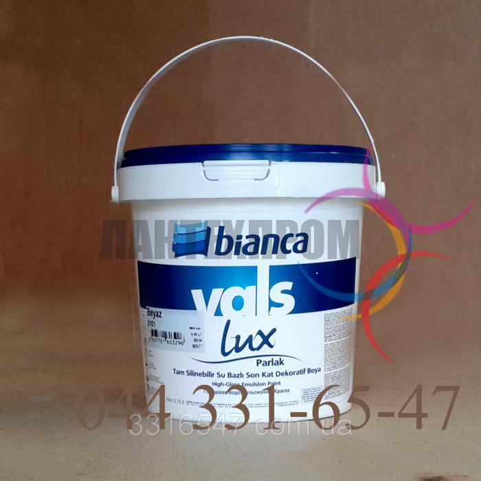 Краска Интерьерная Акриловая глянцевая Vals Lux Bianca 0,75