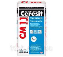 Клей для плитки усиленный СМ-11 Ceresit PLUS (25кг)