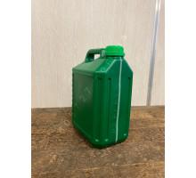 Пластиковая зелёная канистра 5 литров