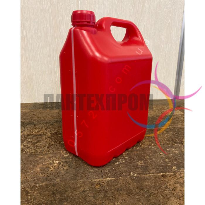 Пластиковая красная канистра 5 литров