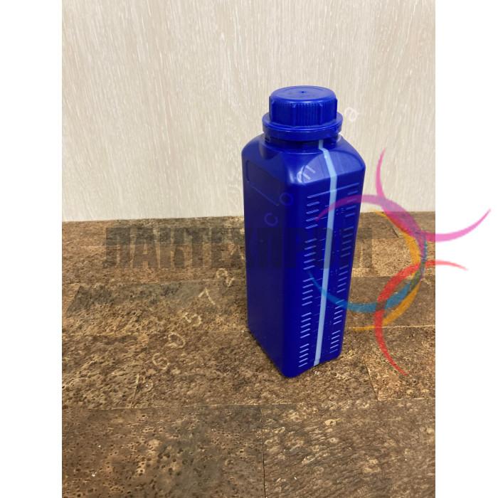 Канистра пластиковая 1л синяя с крышкой, флакон 1 литр