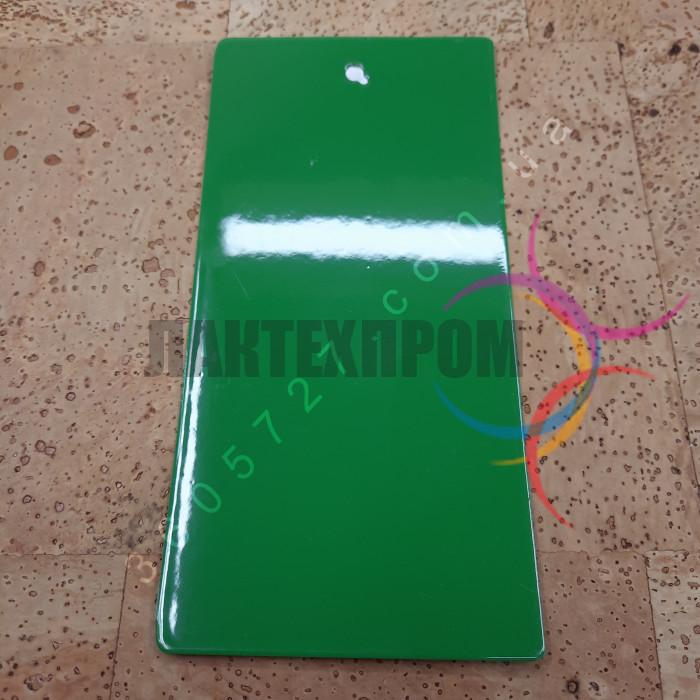 Краска порошковая зеленая полиэфирная Etika ral 6017 глянец